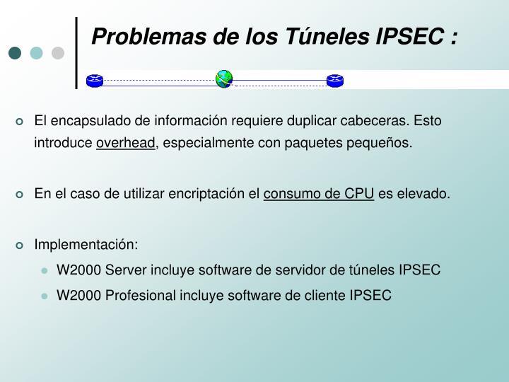 Problemas de los Túneles IPSEC :