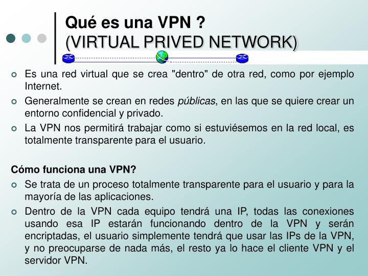 Qué es una VPN ?