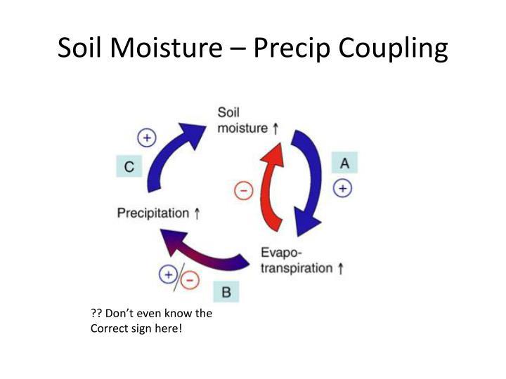 Soil Moisture –Precip Coupling