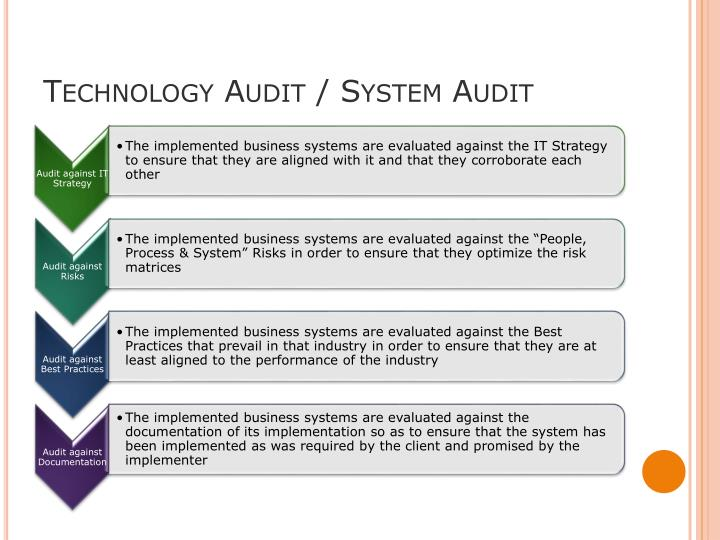 Technology Audit / System Audit
