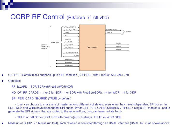OCRP RF Control
