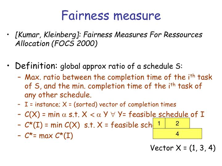 Fairness measure