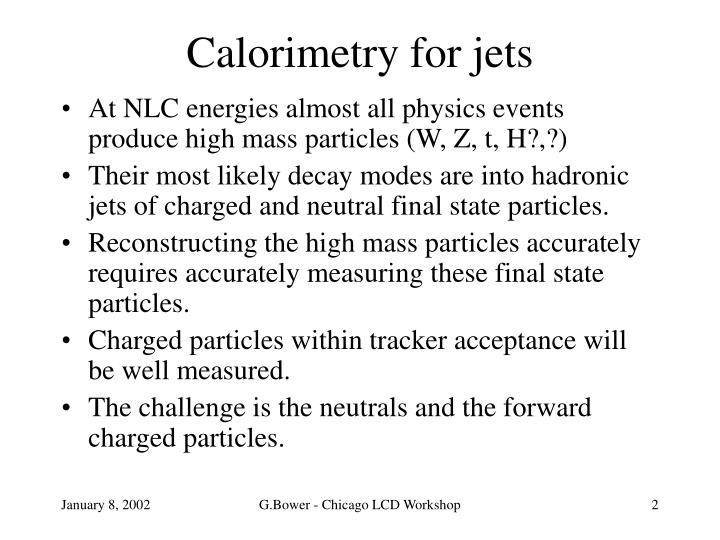 Calorimetry for jets