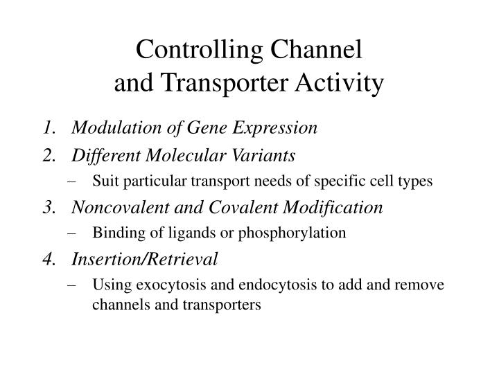 Controlling Channel