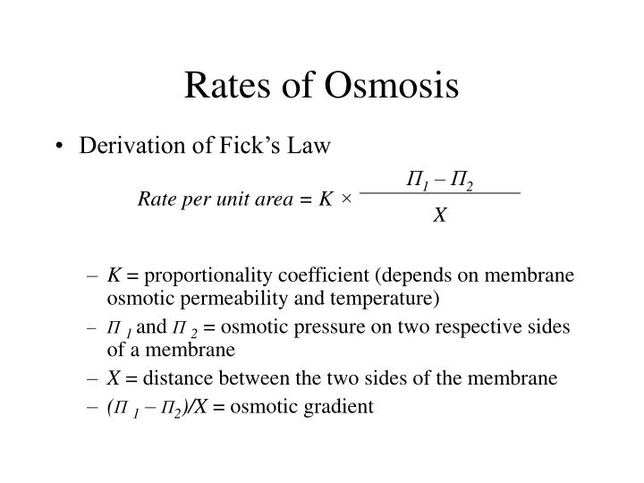 Rates of Osmosis