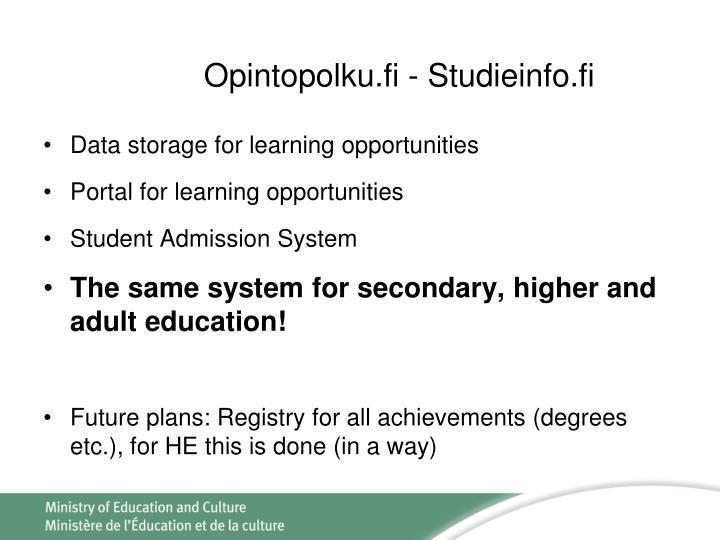 Opintopolku.fi - Studieinfo.fi