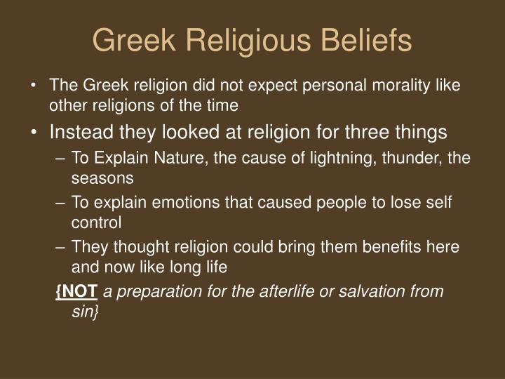 Greek Religious Beliefs