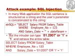 attack example sql injection