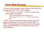 client web browser