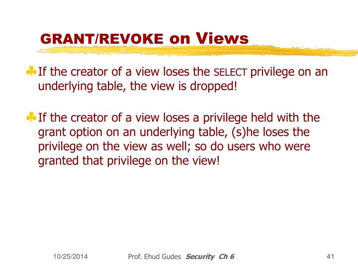 GRANT/REVOKE
