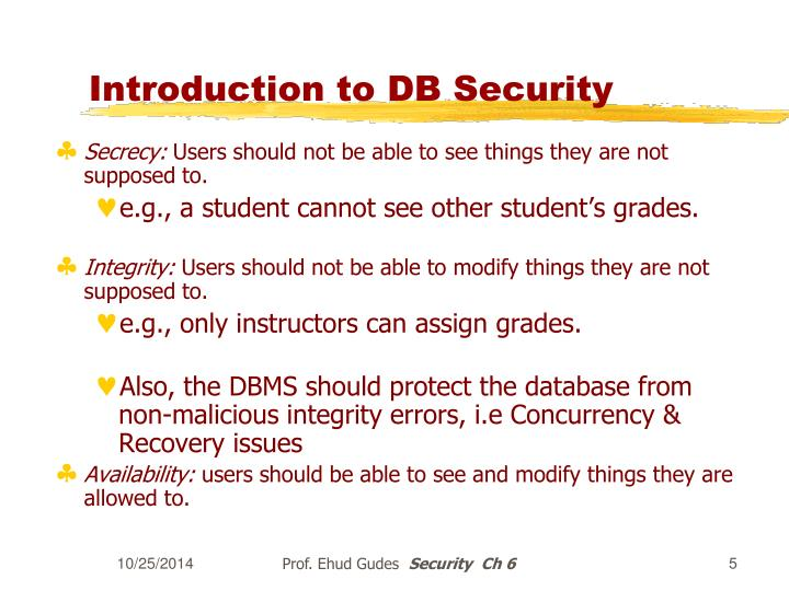 Introduction to DB Security