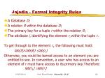 jajodia formal integrity rules