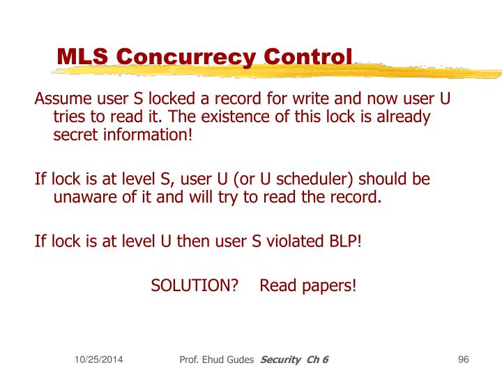 MLS Concurrecy Control