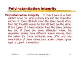 polyinstantiation integrity