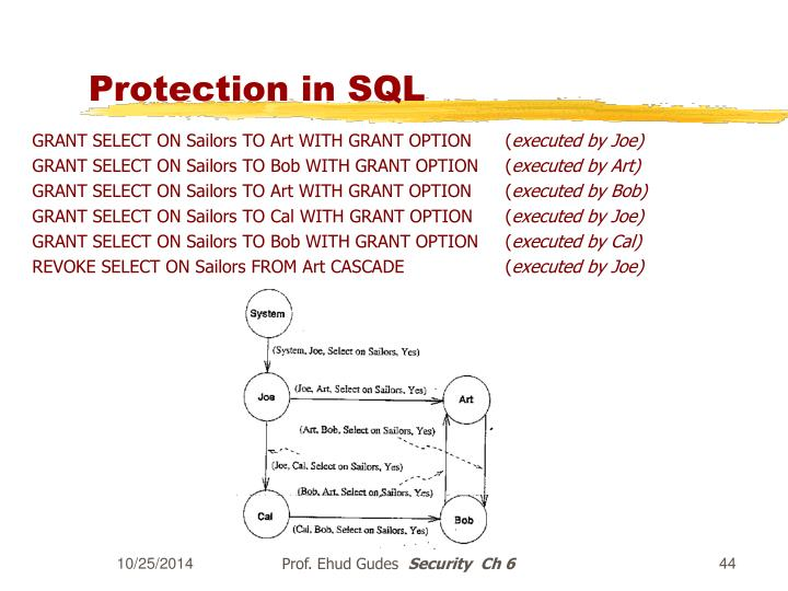 Protection in SQL