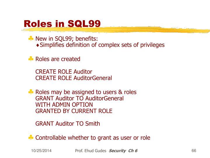 Roles in SQL99
