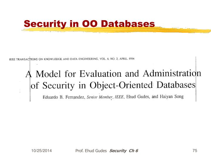 Security in OO Databases