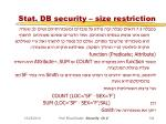 stat db security size restriction1
