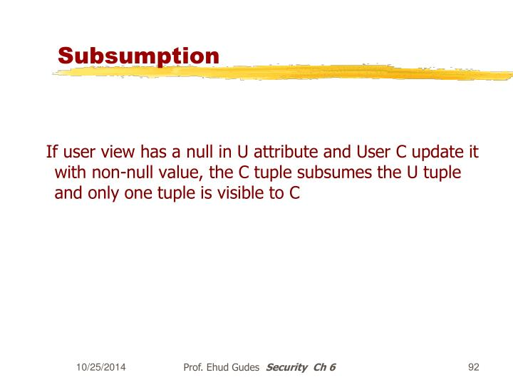 Subsumption