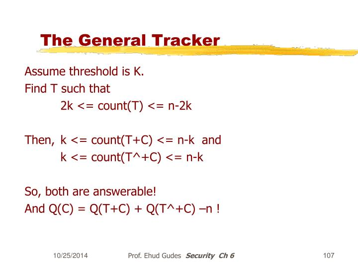 The General Tracker