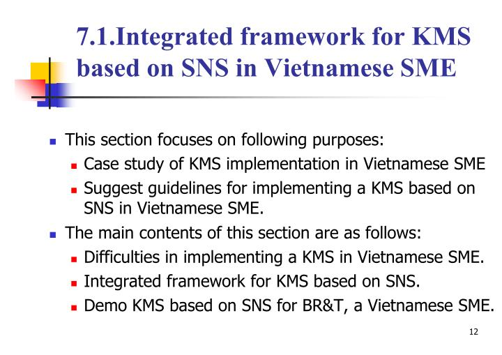7.1.Integrated framework for KMS based on SNS in Vietnamese SME