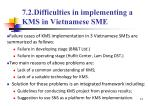 7 2 difficulties in implementing a kms in vietnamese sme