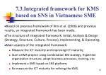 7 3 integrated framework for kms based on sns in vietnamese sme