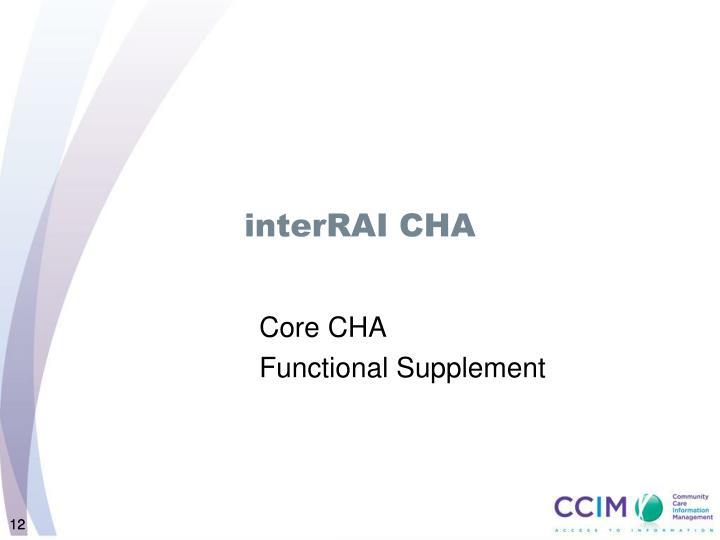 interRAI CHA