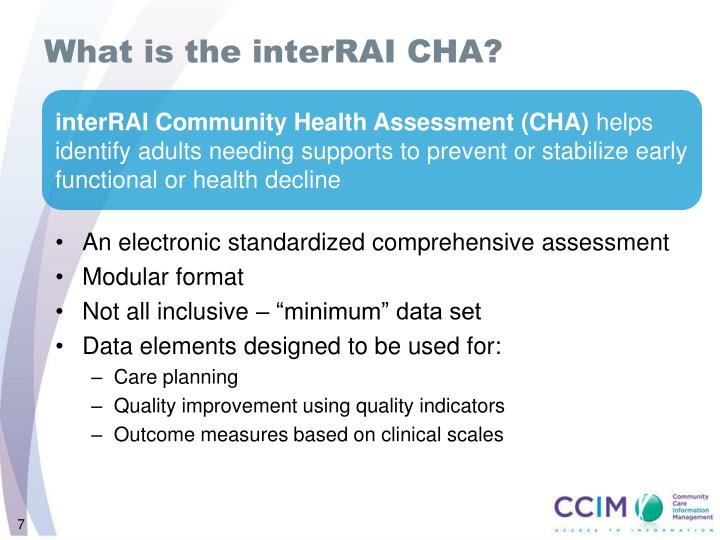 What is the interRAI CHA?