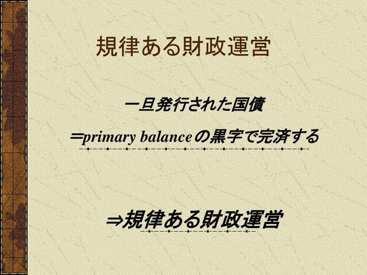 規律ある財政運営