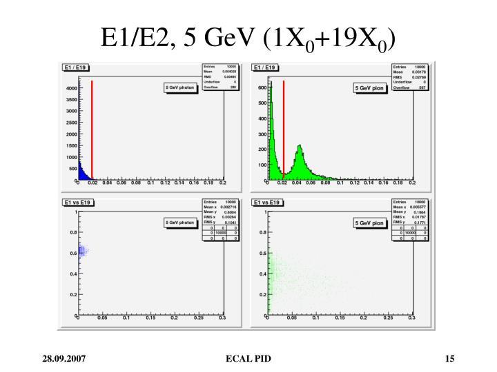 E1/E2, 5 GeV (1X