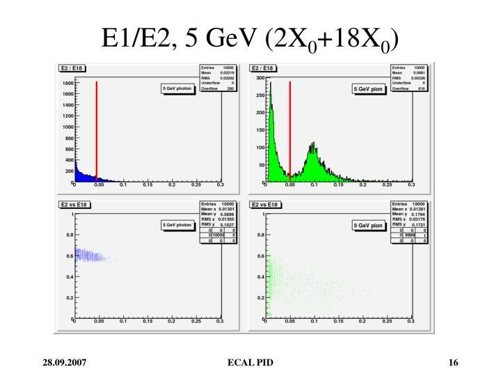 E1/E2, 5 GeV (2X