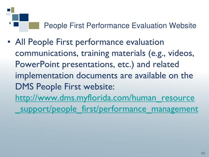 People First Performance Evaluation Website