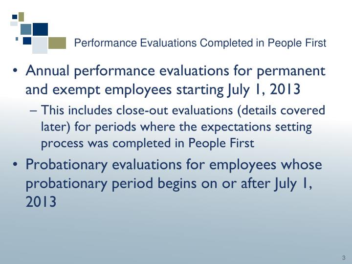 Performance evaluations completed in people first