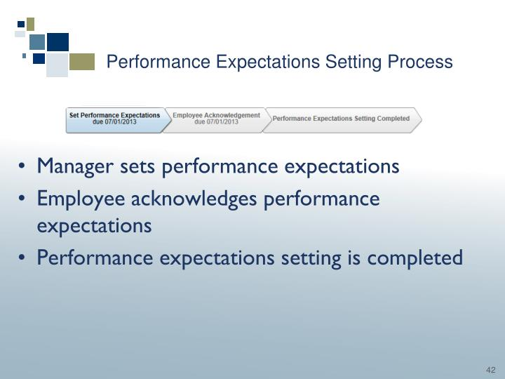 Performance Expectations Setting Process