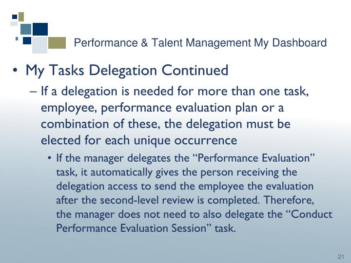 Performance & Talent Management My Dashboard