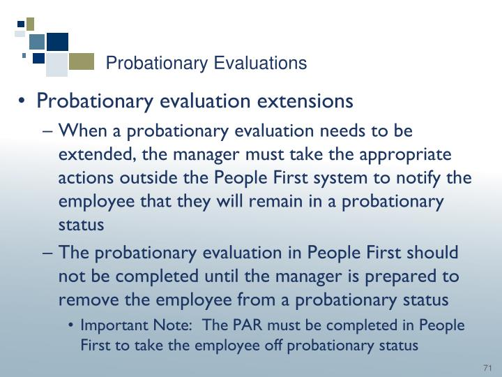 Probationary Evaluations