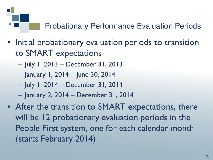 Probationary Performance Evaluation Periods