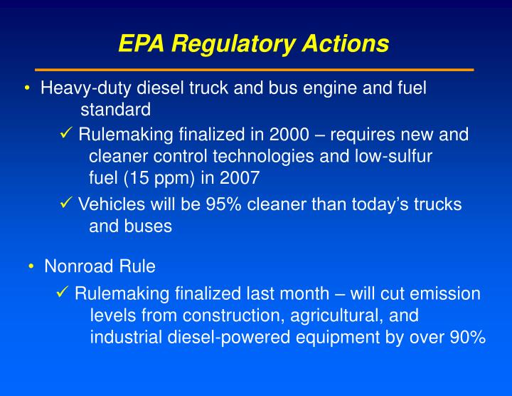 EPA Regulatory Actions