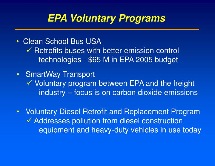 EPA Voluntary Programs