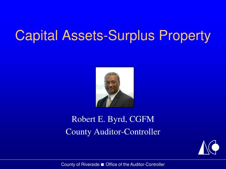 Capital assets surplus property