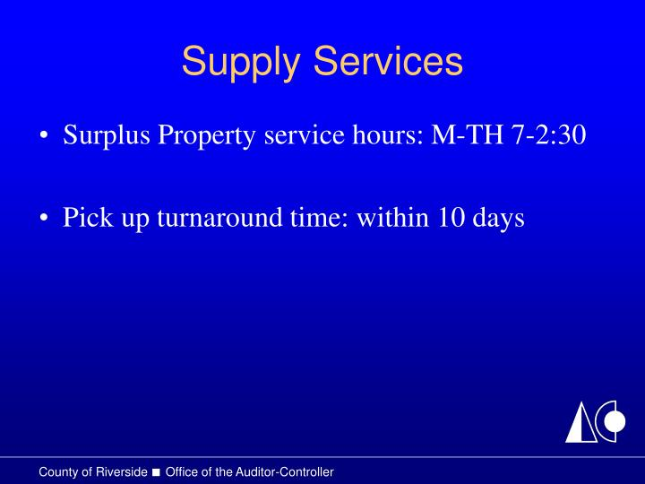 Supply Services