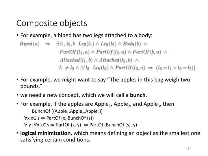 Composite objects