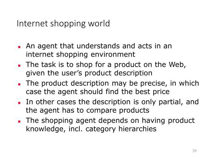 Internet shopping world