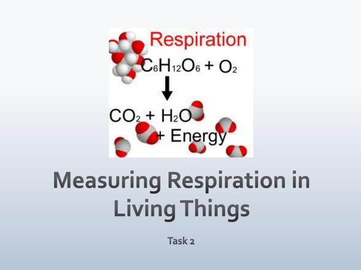 Measuring Respiration in Living Things