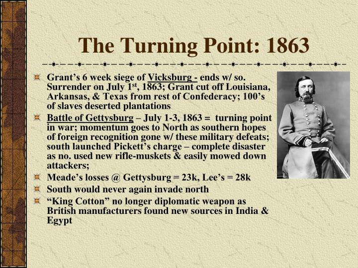 The Turning Point: 1863