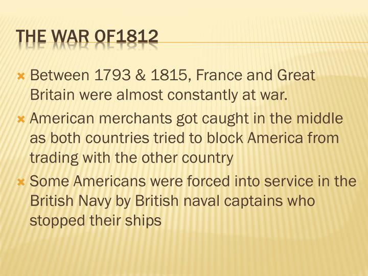The war of1812