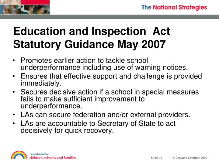 Education and Inspection  Act
