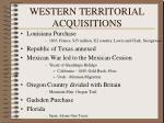 western territorial acquisitions