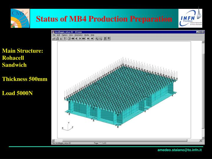 Status of MB4 Production Preparation